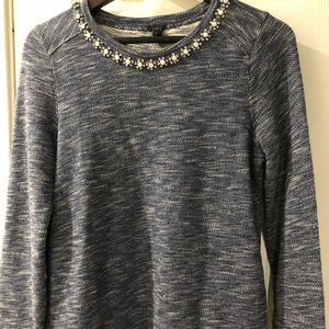 J Crew sweatshirt with embellish small